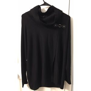 Cowl neck oversized tunic sweater NWT